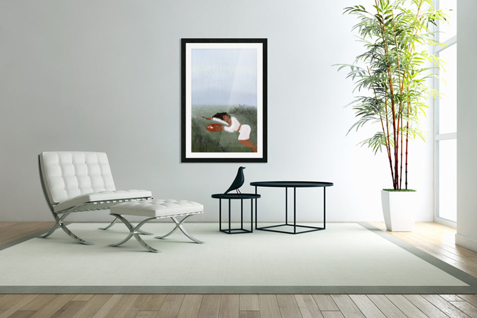 Freedom Painter in Custom Picture Frame