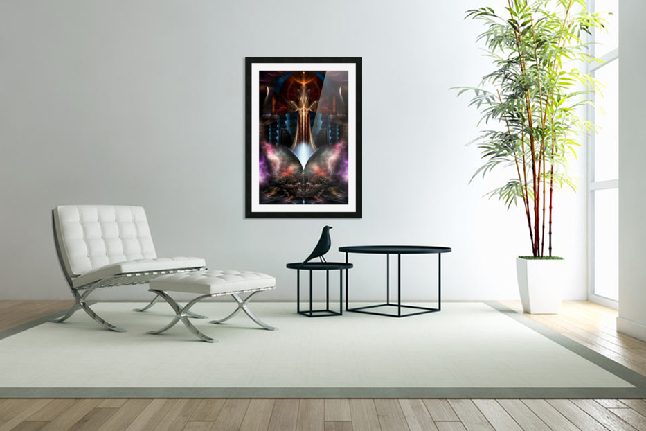 The Trilicon Fractal Art in Custom Picture Frame