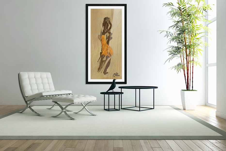Yellow dress in Custom Picture Frame