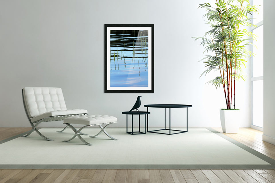 Reeds In The Shallows Abstract in Custom Picture Frame