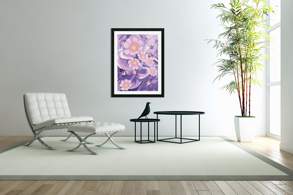 Abstract Flowers  in Custom Picture Frame
