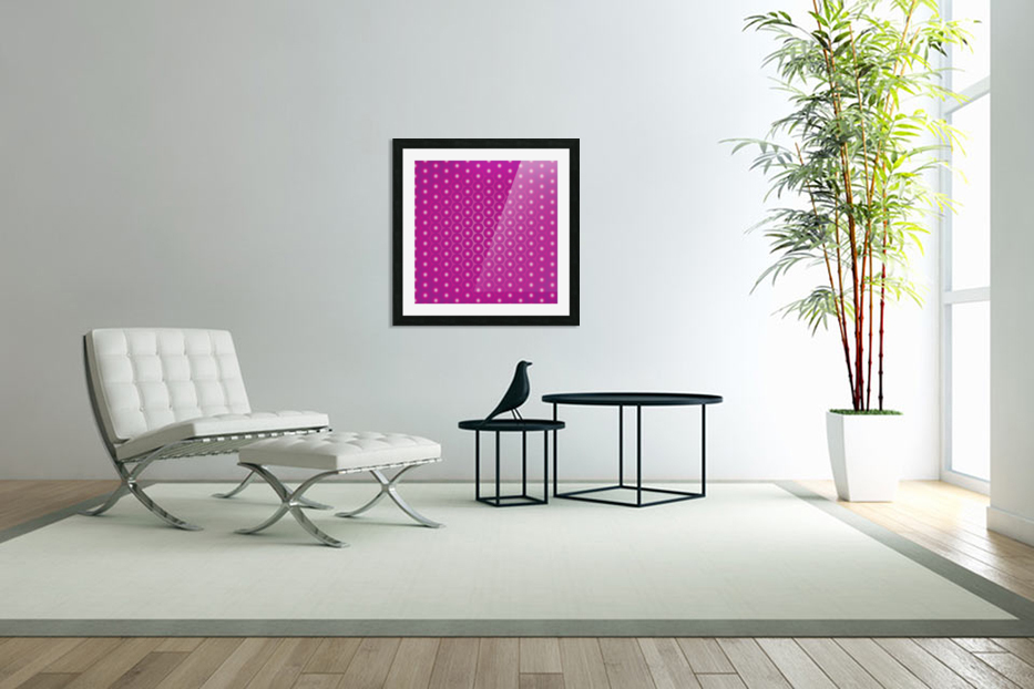 Magenta Pearl Pattern in Custom Picture Frame