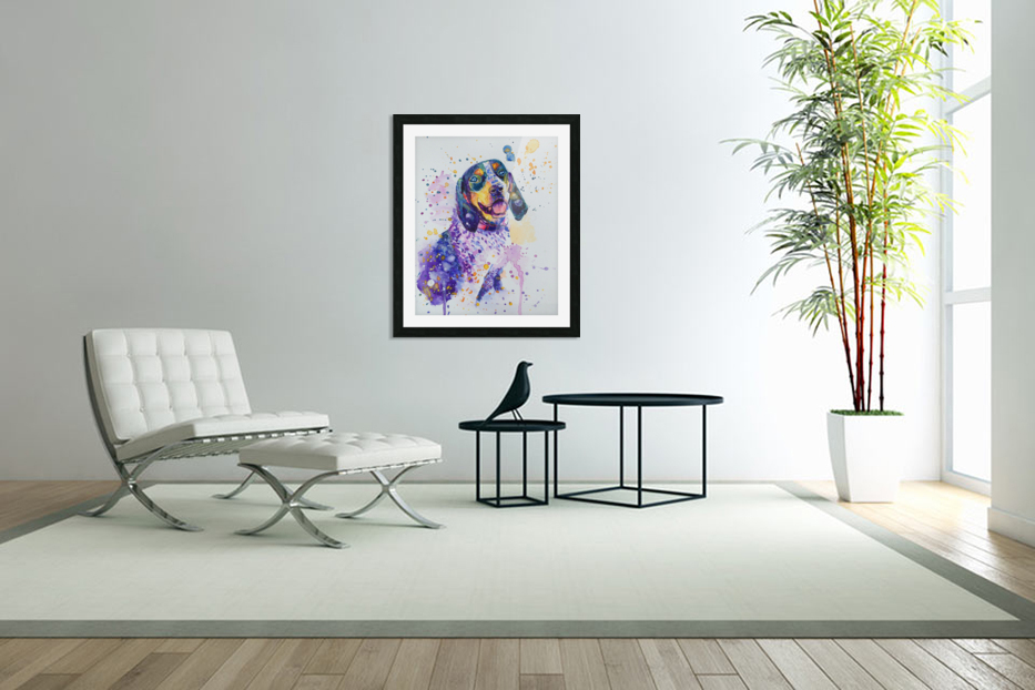 Beagle Dog - Lily Belle in Custom Picture Frame