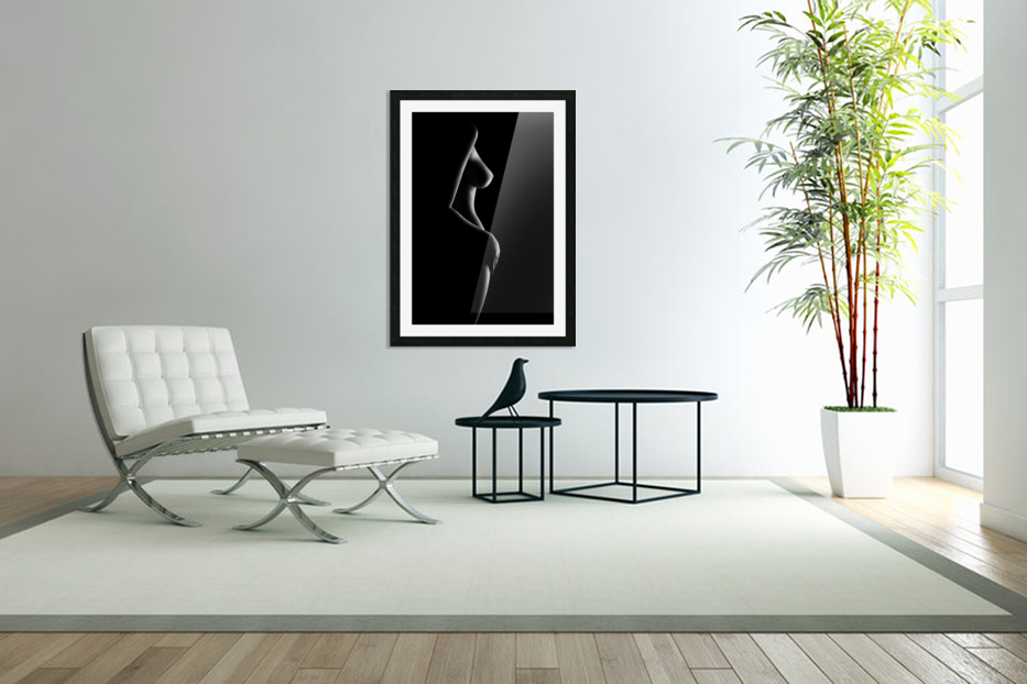 Nude woman bodyscape 20 in Custom Picture Frame