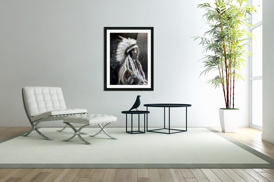 Chief in Custom Picture Frame