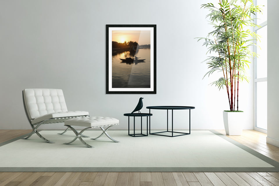 Asian Fishin in Custom Picture Frame