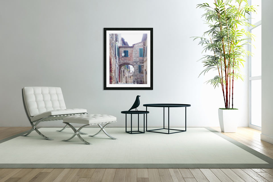 Alleyway Cetona Tuscany in Custom Picture Frame