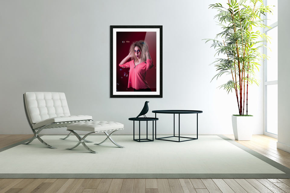 Attractive young girl with disheveled hair  in Custom Picture Frame