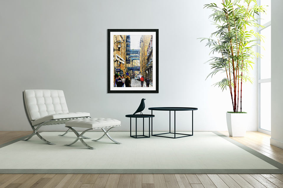 Shad Thames Street View in Custom Picture Frame
