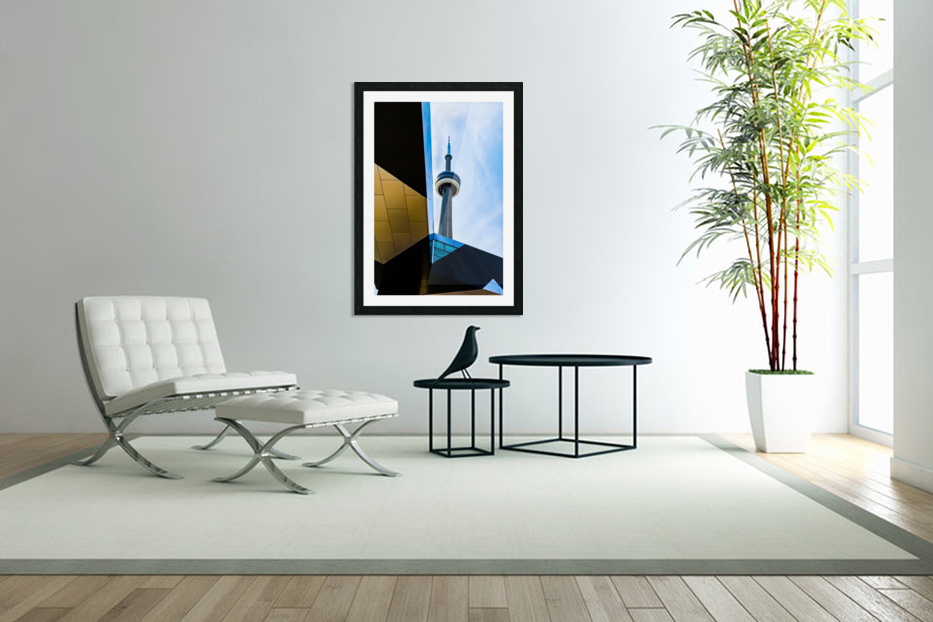 A tower in the sky in Custom Picture Frame