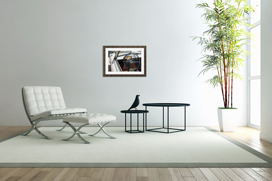 Autobianchi Bianchina Through The Window in Custom Picture Frame