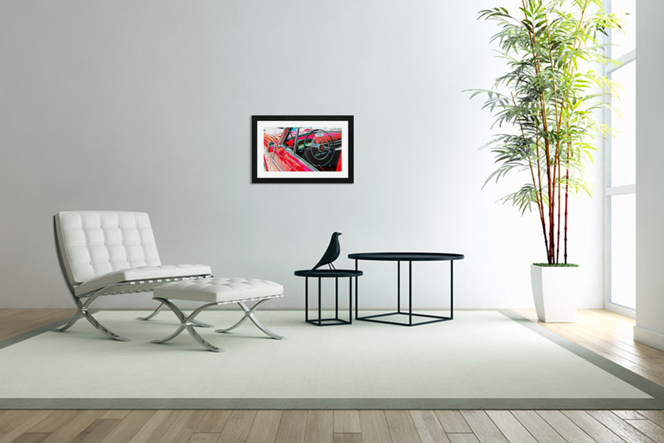 Fiat 1100 D Through The Window in Custom Picture Frame
