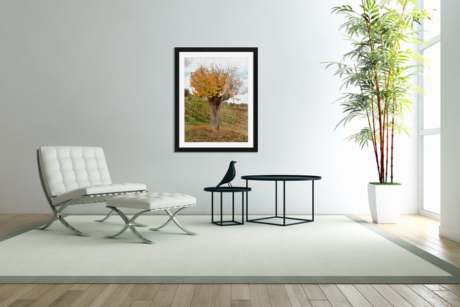 The Autumn Guardian in Custom Picture Frame