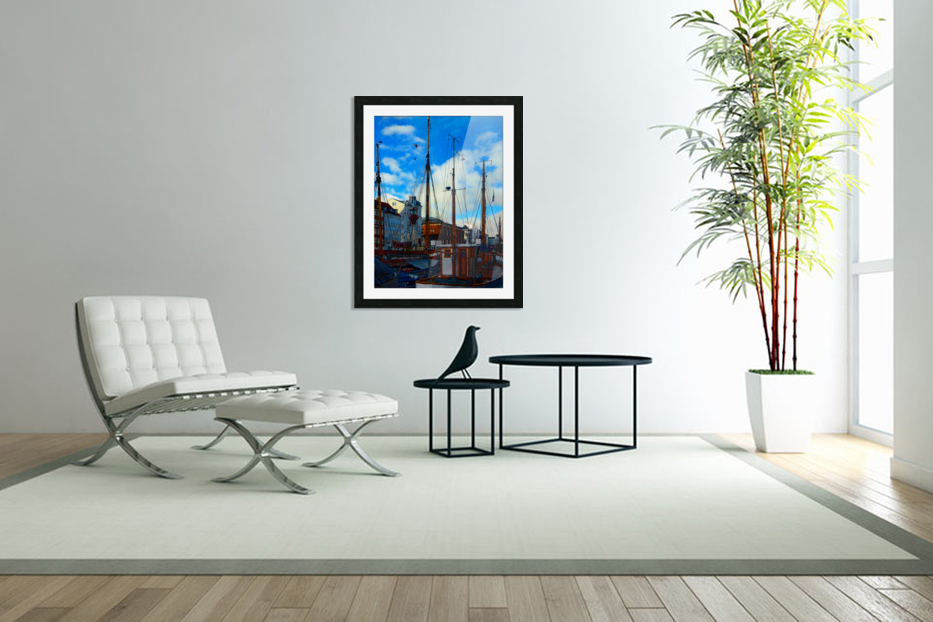 A Study in Masts in Custom Picture Frame