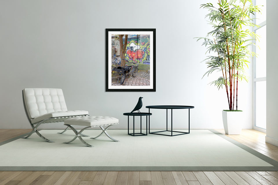 Bicycles at Rest in Custom Picture Frame