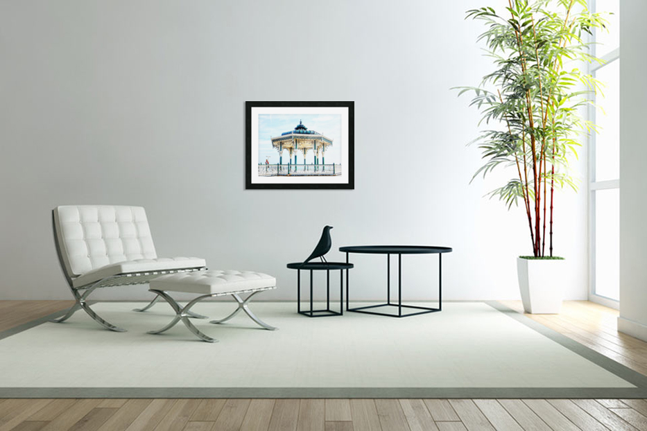 The Bandstand on Brighton Seafront in Custom Picture Frame