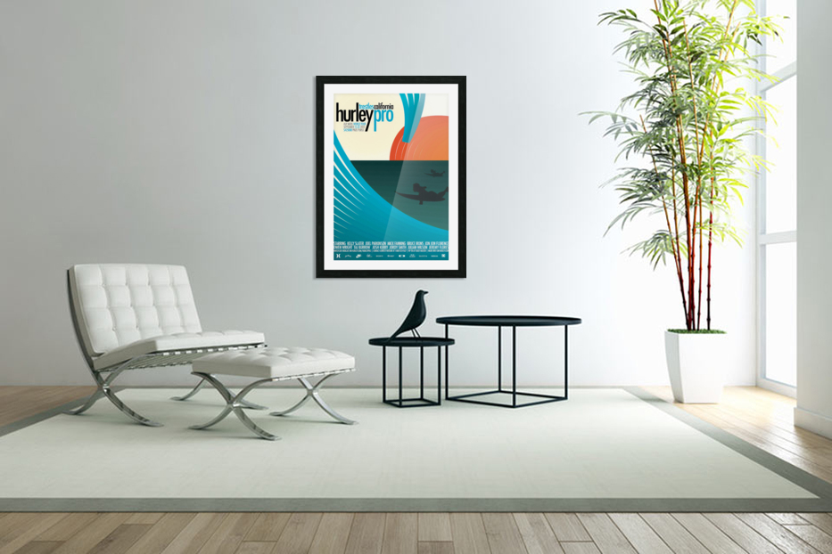 2012 HURLEY PRO TRESTLES Surf Competition Poster in Custom Picture Frame