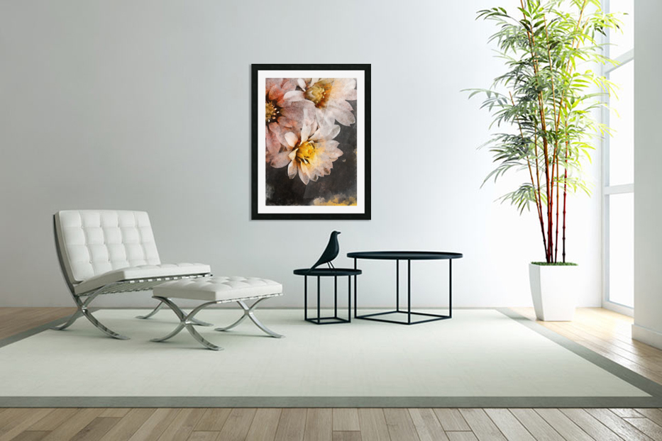 Flowers art in Custom Picture Frame