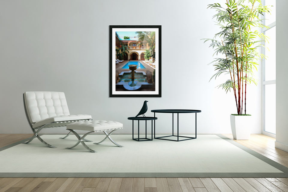 Riad Pool View Marrakesh in Custom Picture Frame