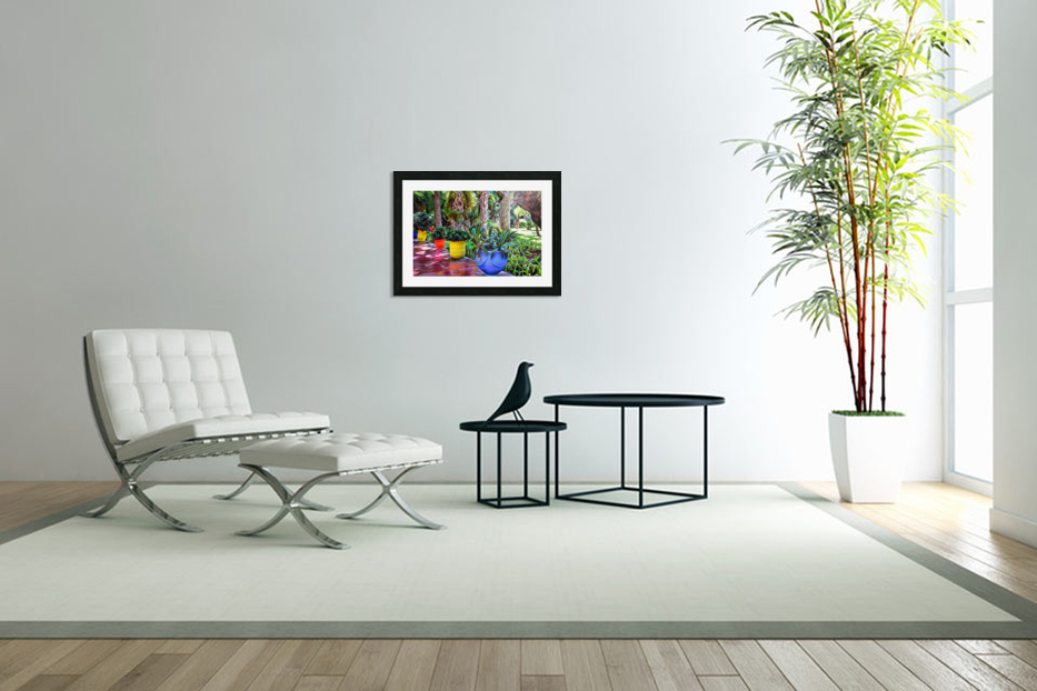 Colorful Plant Pots Marrakech 9 in Custom Picture Frame