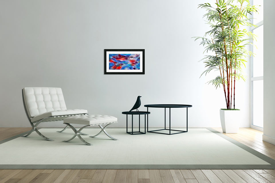 Blue Flames - multicolor abstract swirls in Custom Picture Frame