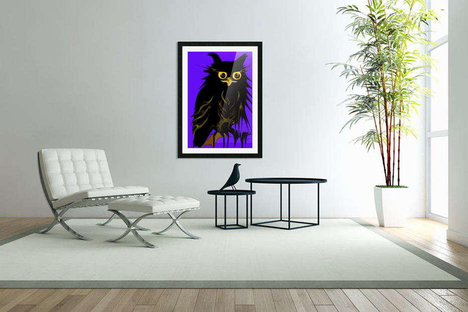 owl in Custom Picture Frame