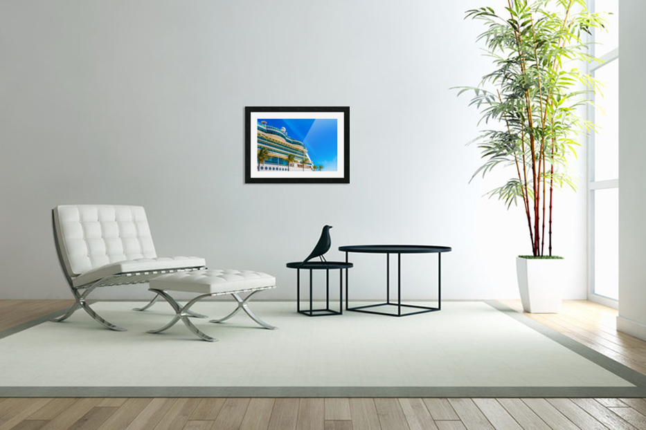 Cruise Ship in Paradise in Custom Picture Frame