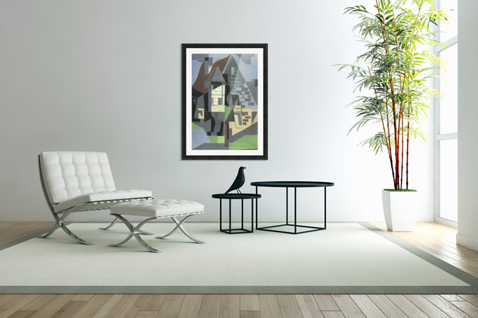 Houses in Beaulieu by Juan Gris in Custom Picture Frame