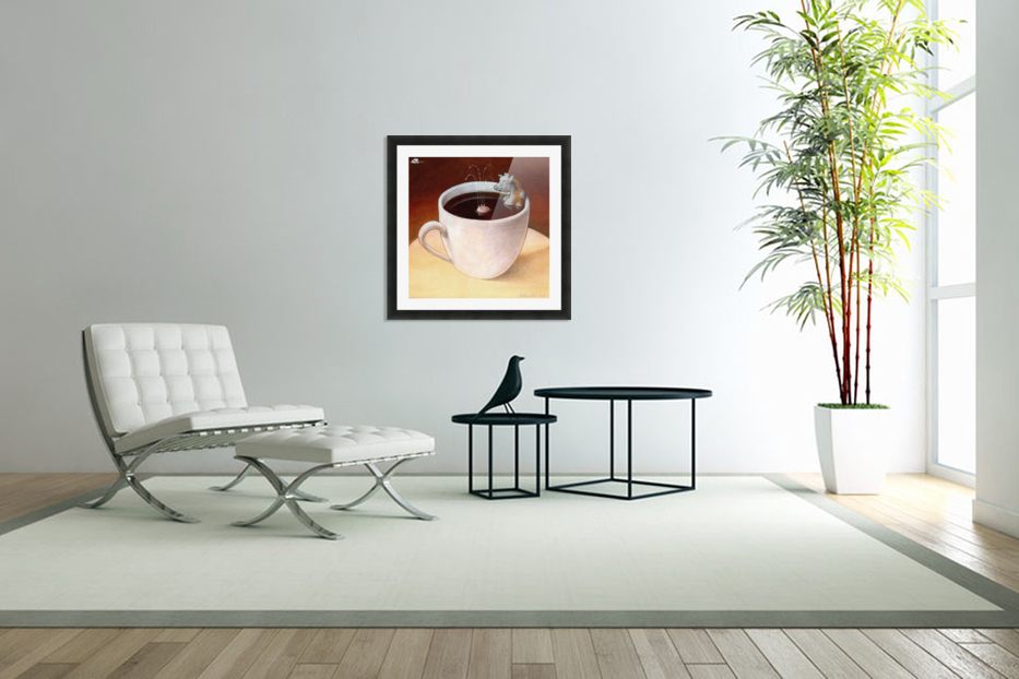 Coffee with milk in Custom Picture Frame