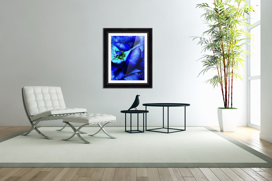 Art of the blue rose 3  in Custom Picture Frame