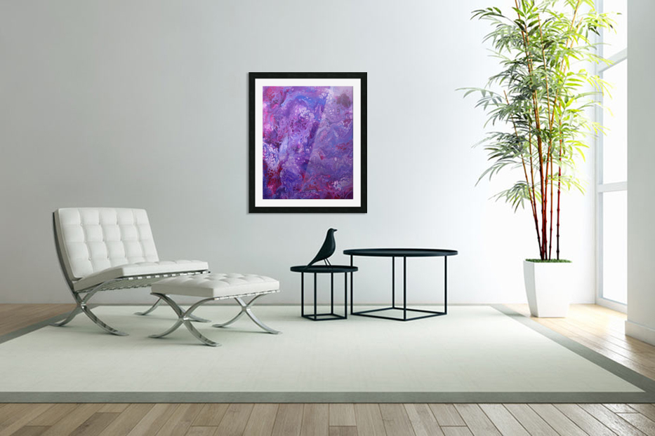 Purple sea of bliss in Custom Picture Frame