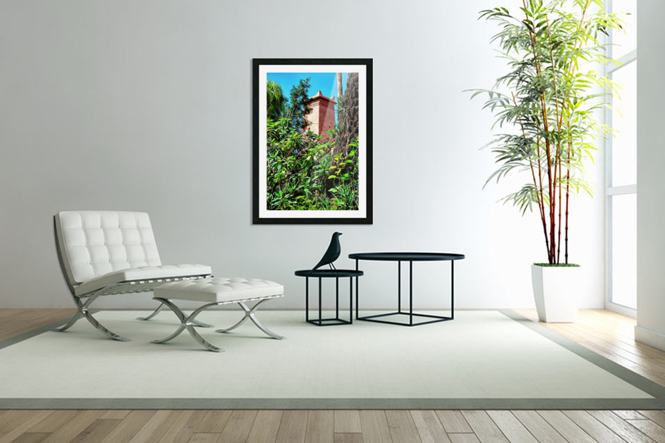 Tower At Jardin Majorelle Marrakech in Custom Picture Frame