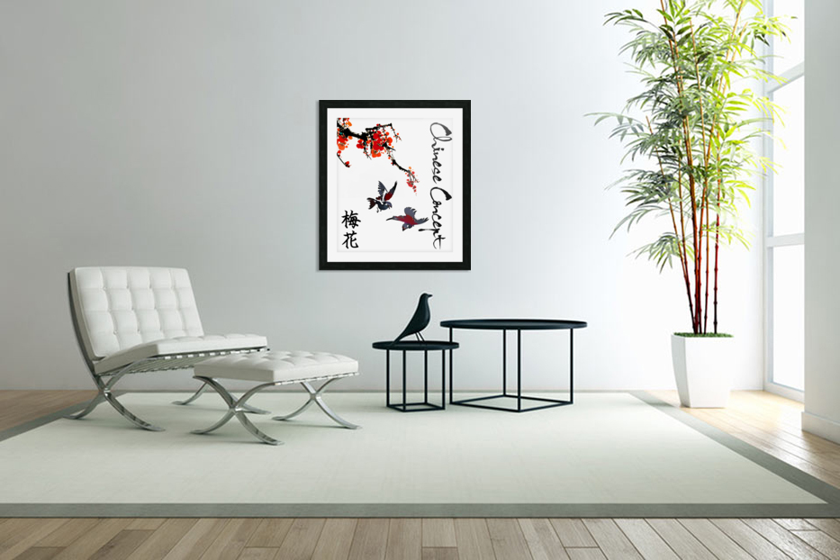 Chinese Concept 25A in Custom Picture Frame