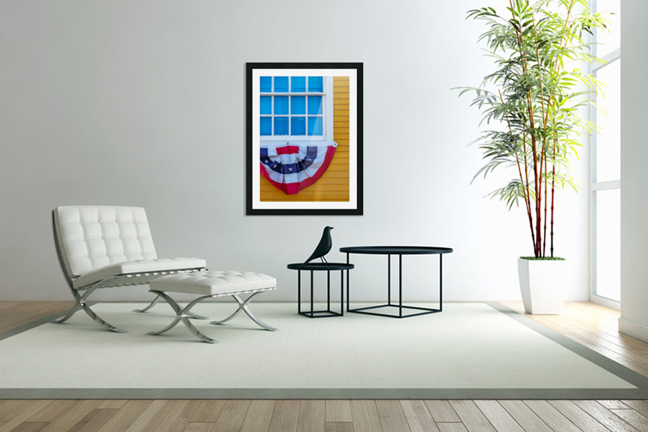 Patriotic Colonial in Custom Picture Frame
