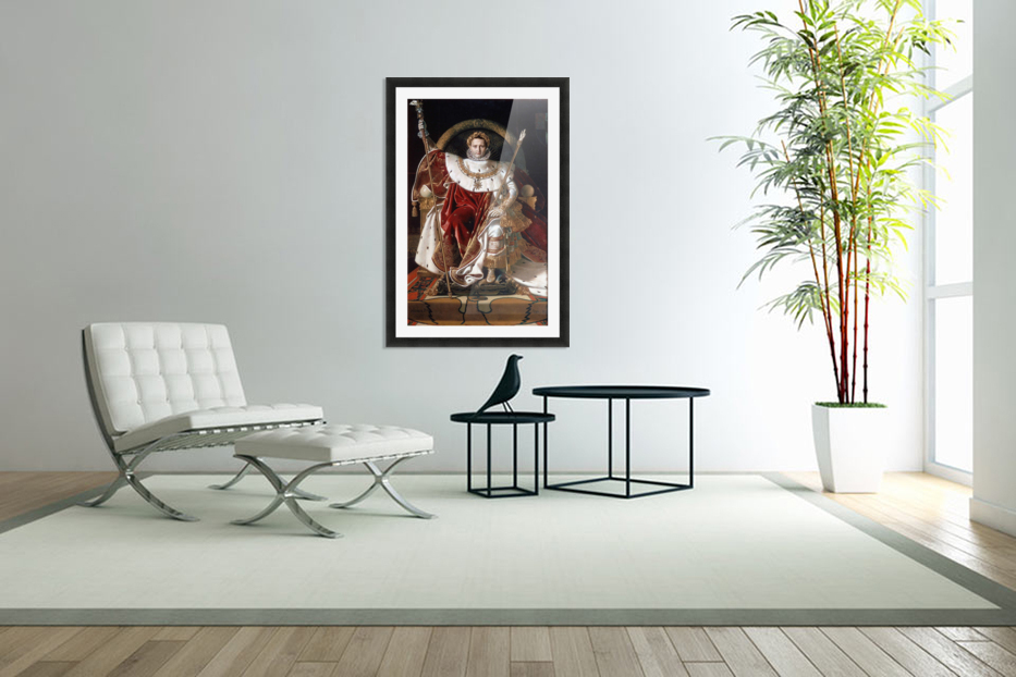 Napoleon on his imperial throne in Custom Picture Frame