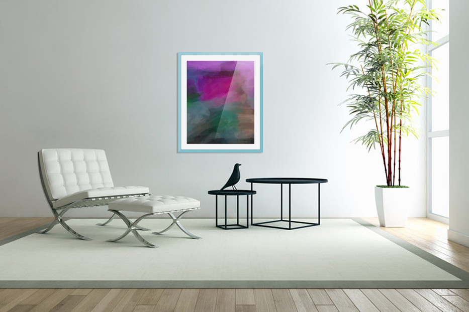 Magenta and Green in Custom Picture Frame