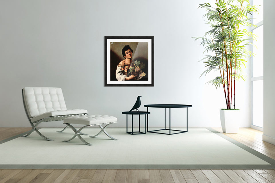 Man with basket in Custom Picture Frame