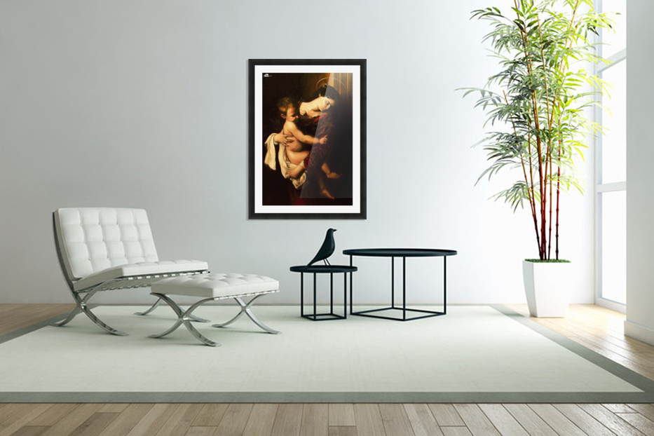 Virgin Mary and Child in Custom Picture Frame