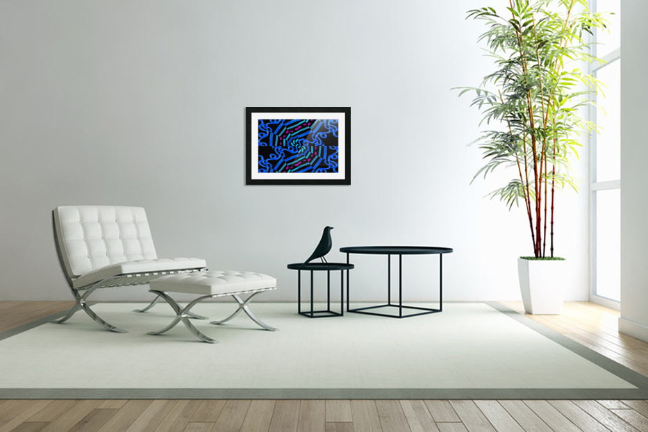 Modern Ornate Abstract Artwork in Custom Picture Frame