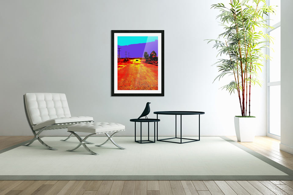 Cows Crossing - Outback Australia in Custom Picture Frame