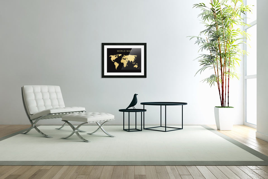 map world 2 in Custom Picture Frame