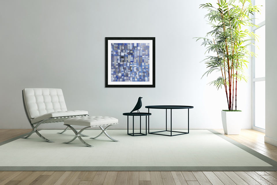 STAGE chrome blue in Custom Picture Frame