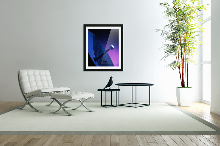 Blue Antenna in Custom Picture Frame