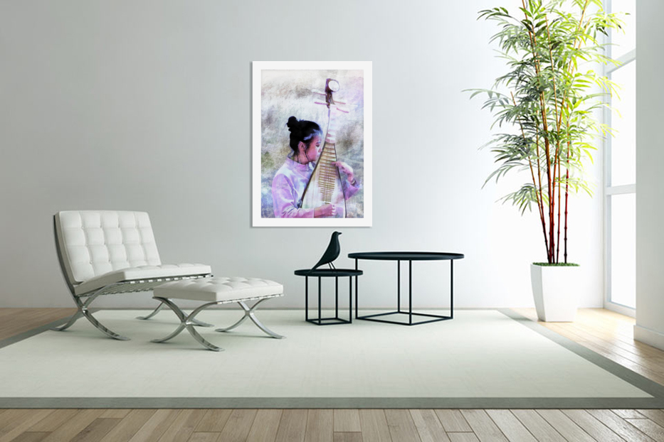 Chinese Musical Interlude in Custom Picture Frame
