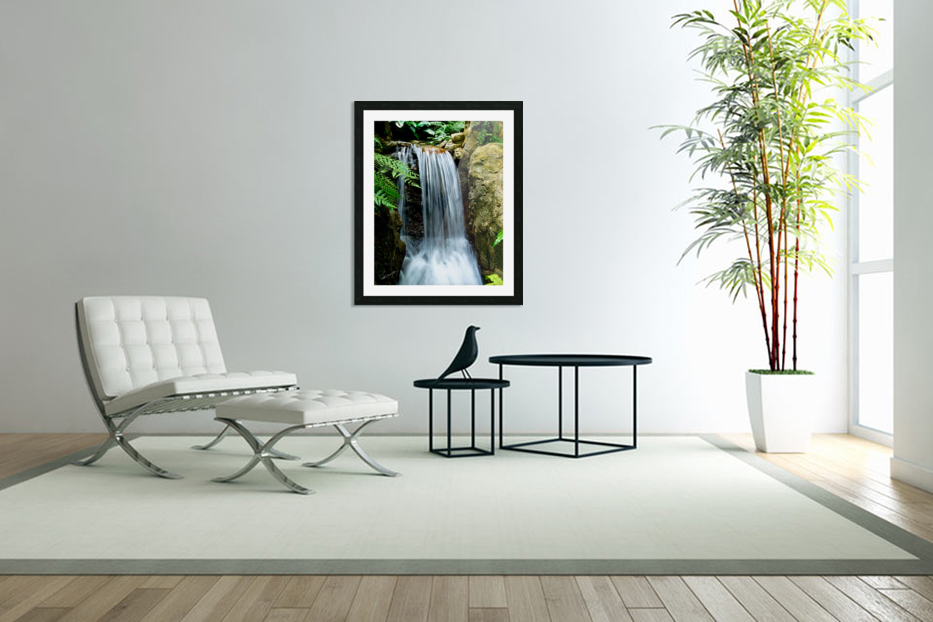 LIttle Hong Kong Park Waterfall in Custom Picture Frame