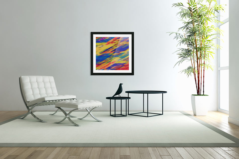 Abstract Composition 232 in Custom Picture Frame