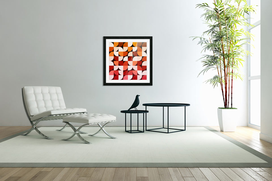 Abstract Composition 642 in Custom Picture Frame