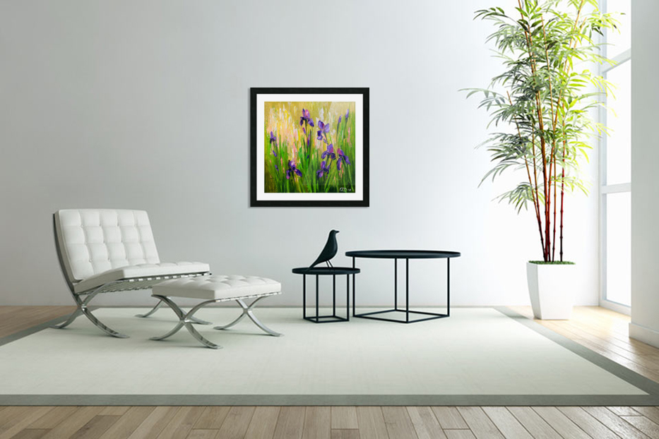 Irises in Custom Picture Frame