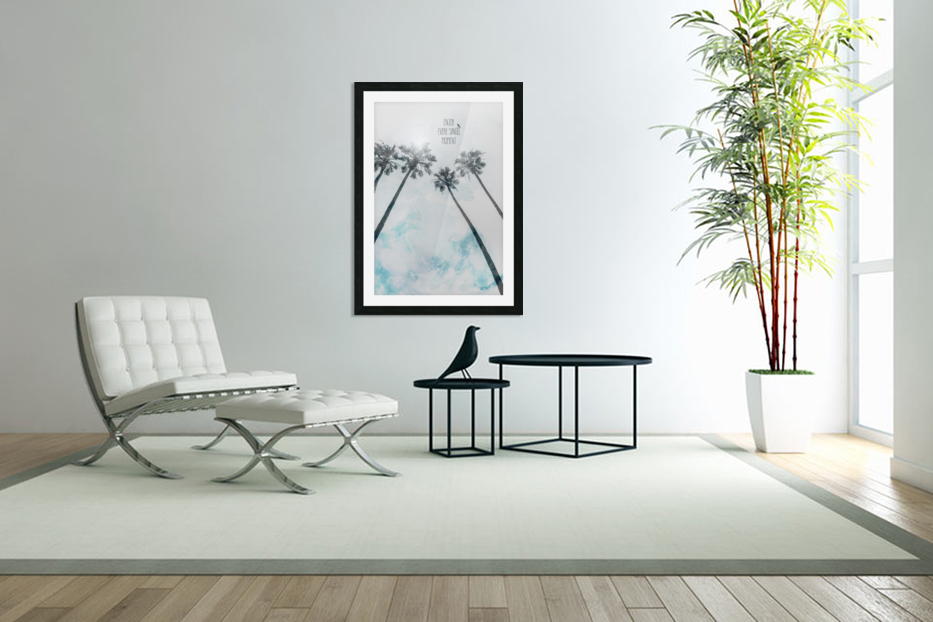 Palm trees with sun   enjoy every single moment in Custom Picture Frame