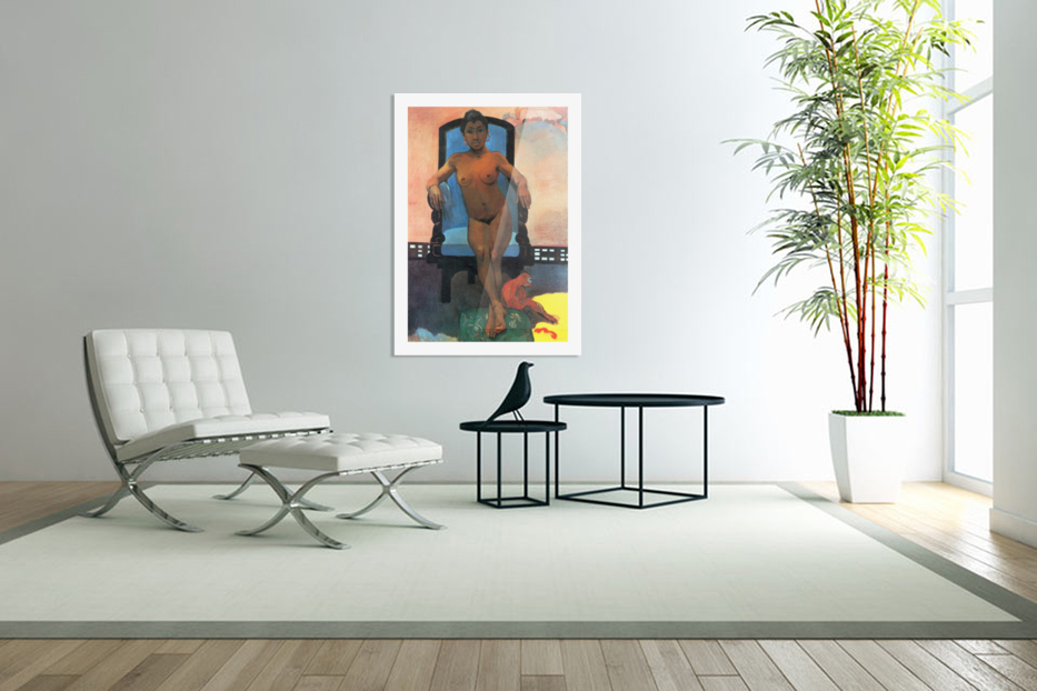 Anna the Java Woman by Gauguin in Custom Picture Frame